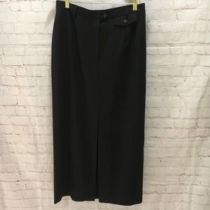 Long charcoal gray worsted wool skirt Jones NY 12